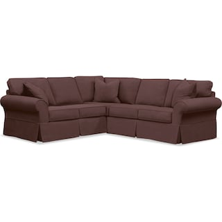 Sawyer 2 Piece Slipcover Sectional with Left-Facing Loveseat - Fremont Cocoa