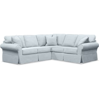 Sawyer 2 Piece Slipcover Sectional with Right-Facing Loveseat - Fremont Sky