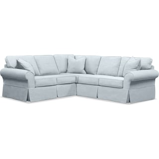 Sawyer 2-Piece Slipcover Sectional with Left-Facing Loveseat - Fremont Sky