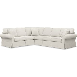 Sawyer 2 Piece Slipcover Sectional with Right-Facing Sofa - Fremont Snow