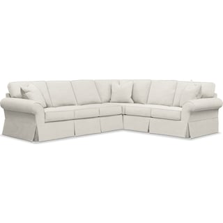 Sawyer 2 Piece Slipcover Sectional with Left-Facing Sofa - Fremont Snow