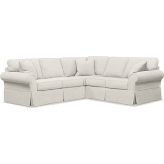 Sawyer 2 Piece Slipcover Sectional with Right-Facing Loveseat - Fremont Snow