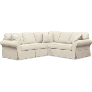 Sawyer 2-Piece Slipcover Sectional with Right-Facing Loveseat - Intern Cream