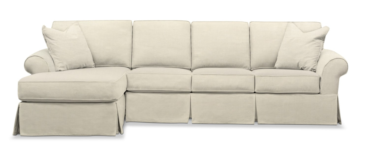 Sawyer 2-Piece Slipcover Sectional with Sofa and Chaise | American ...
