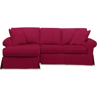 Sawyer 2 Piece Slipcover Sectional with Right-Facing Loveseat and Left-Facing Chaise - Intern Red