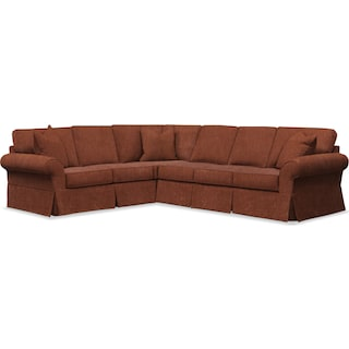 Sawyer 2 Piece Slipcover Sectional with Right-Facing Sofa - Kelly Copper