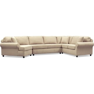 Ashton 3-Piece Sectional with Left-Facing Cuddler - Brown