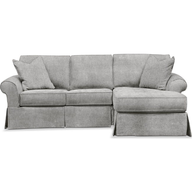Sawyer 2 Piece Slipcover Sectional With Loveseat And