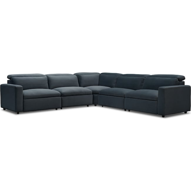 Living Room Furniture - Happy 5-Piece Dual Power Reclining Sectional