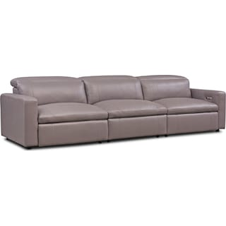 Happy 3-Piece Dual-Power Reclining Sofa - Gray