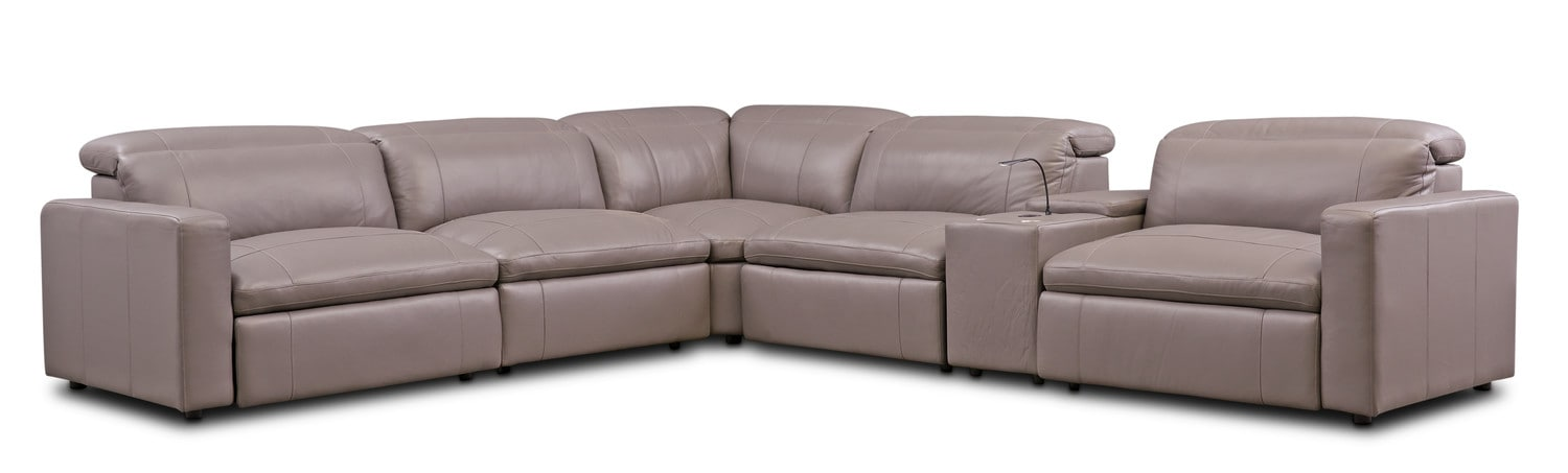 Happy 6 Piece Dual Power Reclining Sectional With 3