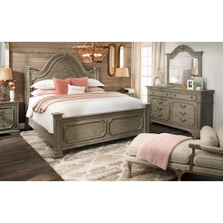 Chatelet 5-Piece Queen Bedroom Set - Antique Taupe
