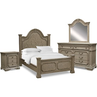 Chatelet 6-Piece King Bedroom Set - Antique Taupe