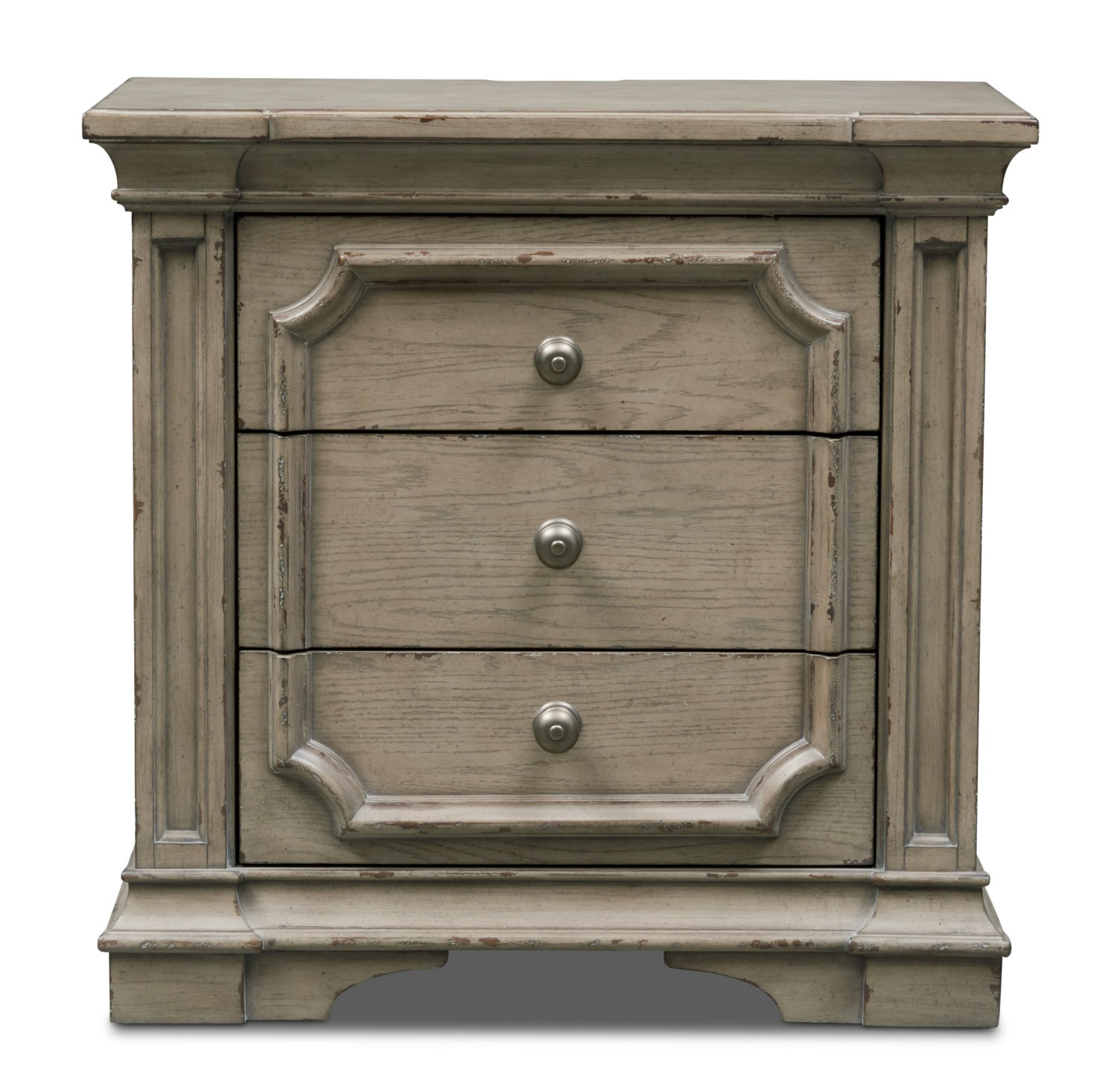 American Signature Furniture Financing Minimum Credit Score: Chatelet Nightstand - Antique Taupe