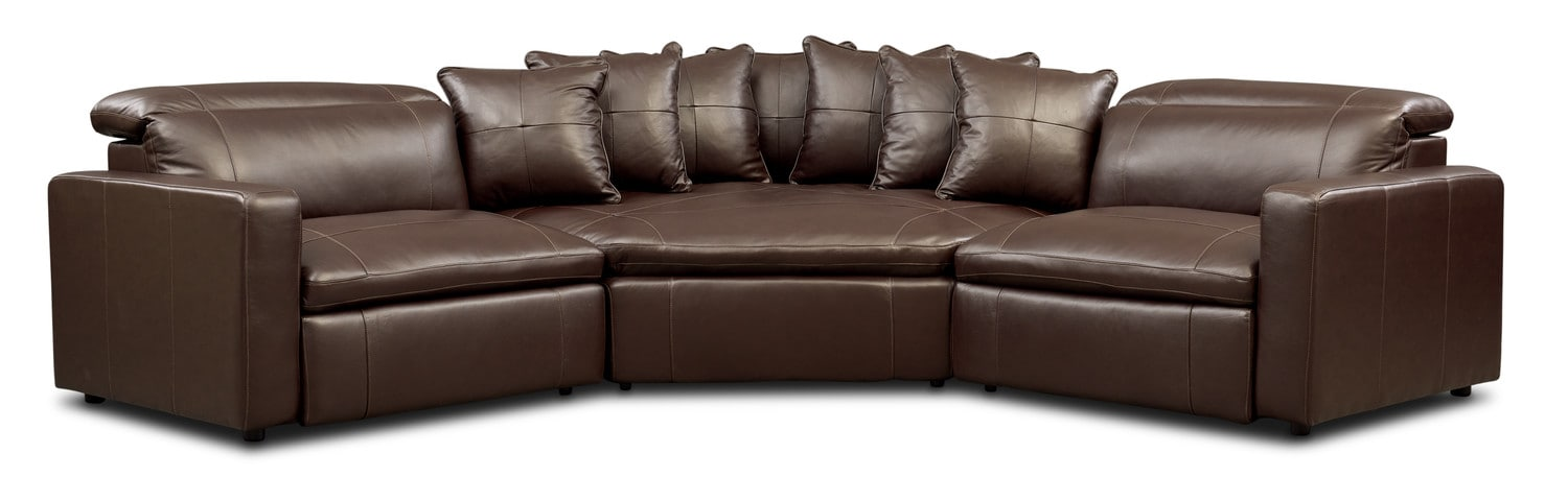 Happy 3-Piece Dual Power Reclining Sectional with Cuddler ...