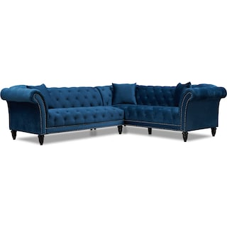 Marisol 2-Piece Sectional - Blue
