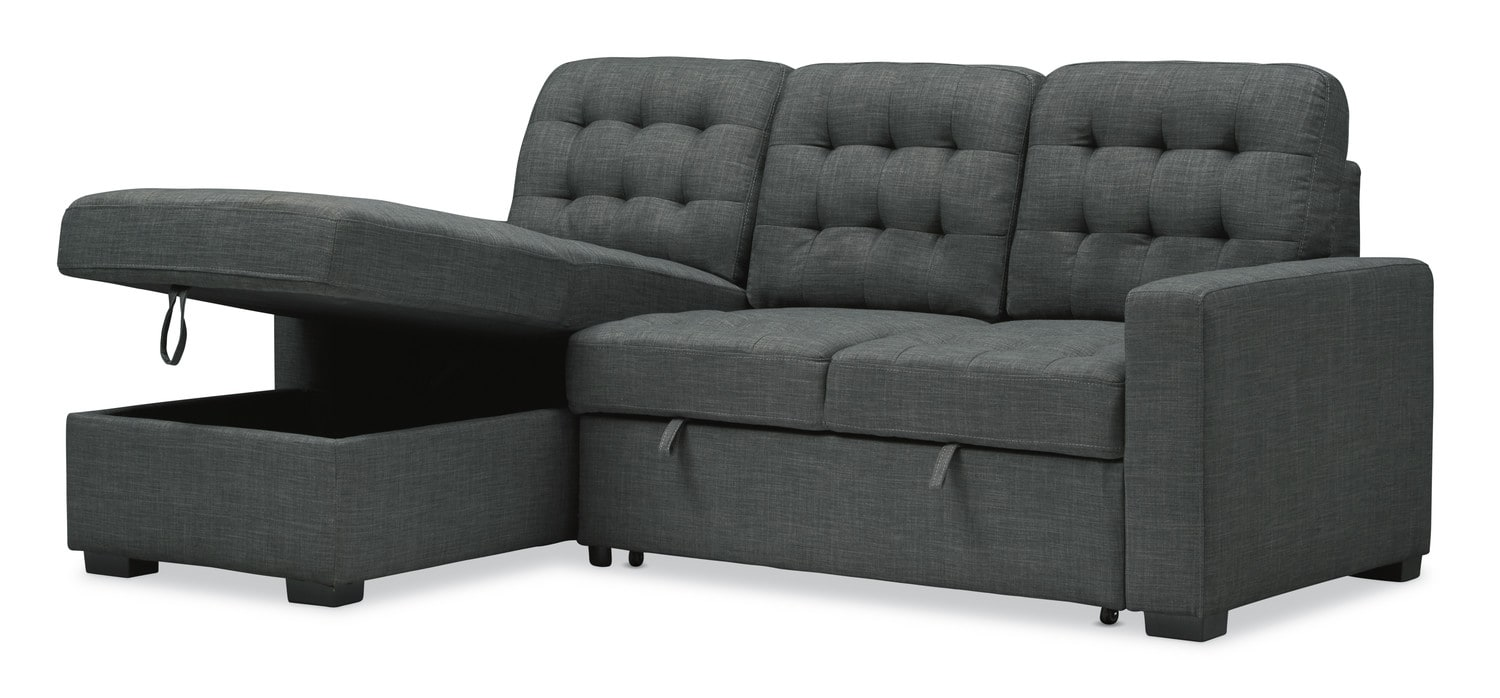 Living Room Furniture - Chatman 2-Piece Sleeper Sectional with Chaise