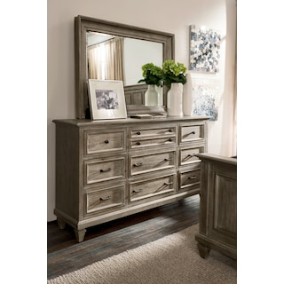 Harrison Dresser and Mirror - Gray