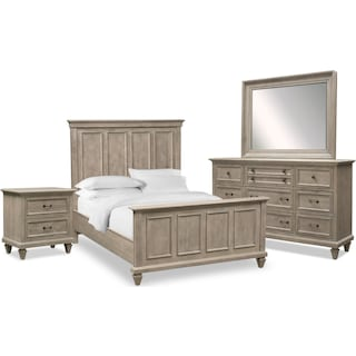 Harrison 6-Piece Queen Bedroom Set - Gray