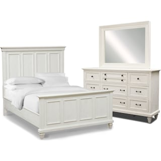 Harrison 5-Piece King Bedroom Set - Chalk
