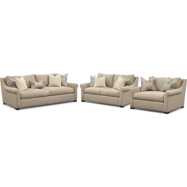 Living Room Furniture Robertson Comfort Sofa Loveseat And Chair A Half Set