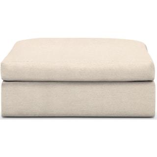 Collin Comfort Ottoman - Pearl
