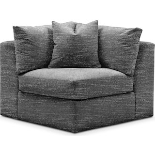 Collin Comfort Corner Chair - Charcoal
