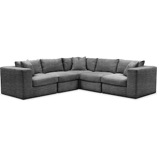 Collin Cumulus 5-Piece Sectional - Charcoal