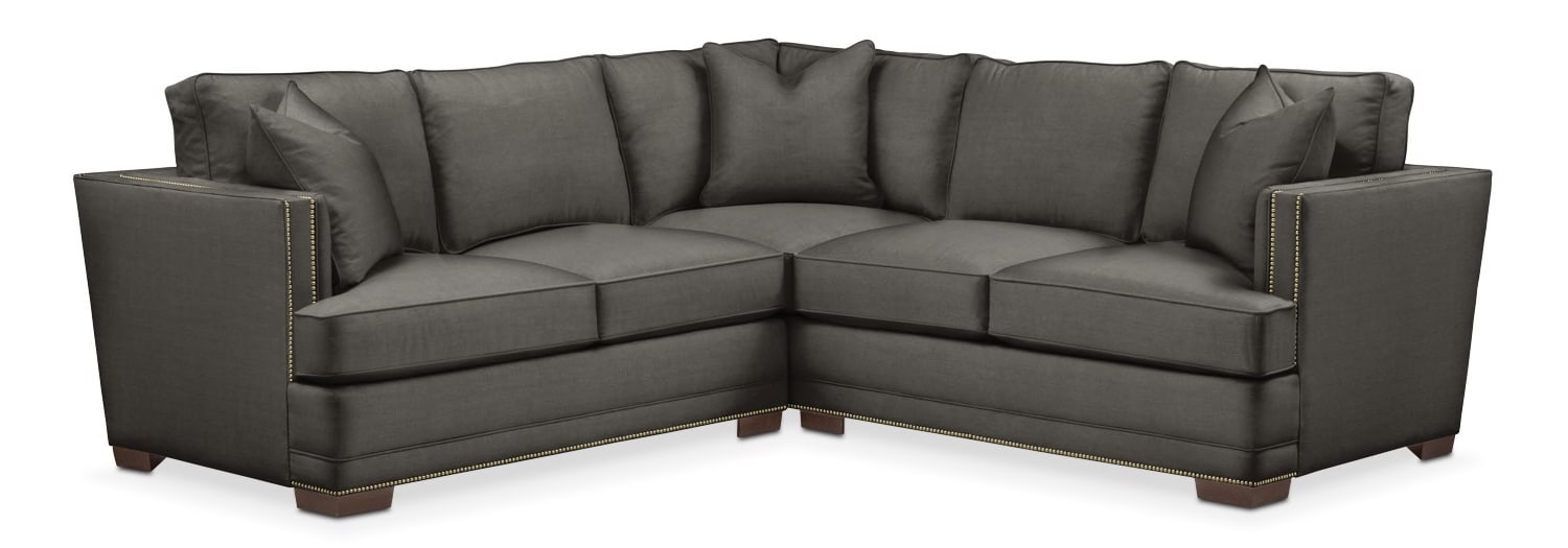 Living Room Furniture - Arden 2-Piece Sectional with Loveseat