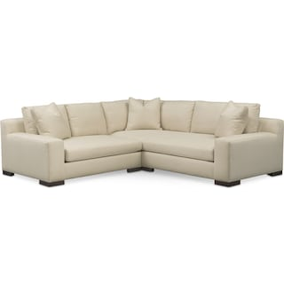 Ethan Cumulus 2-Piece Sectional with Left-Facing Loveseat - Cream