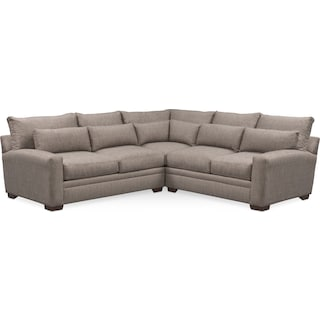 Winston Comfort 3-Piece Sectional - Gray