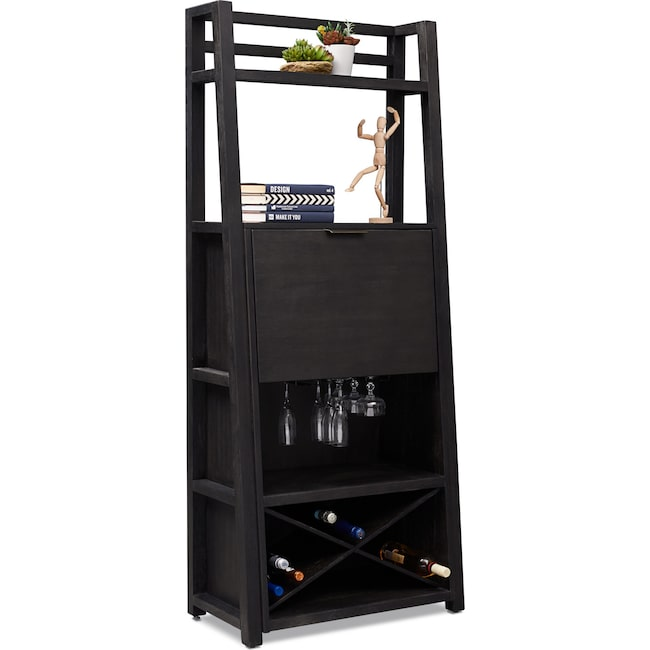 Home Office Furniture - Carlton Bar Cabinet - Black