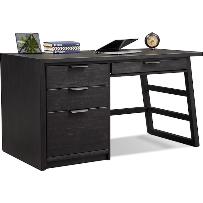 Home Office Furniture - Carlton Desk - Black