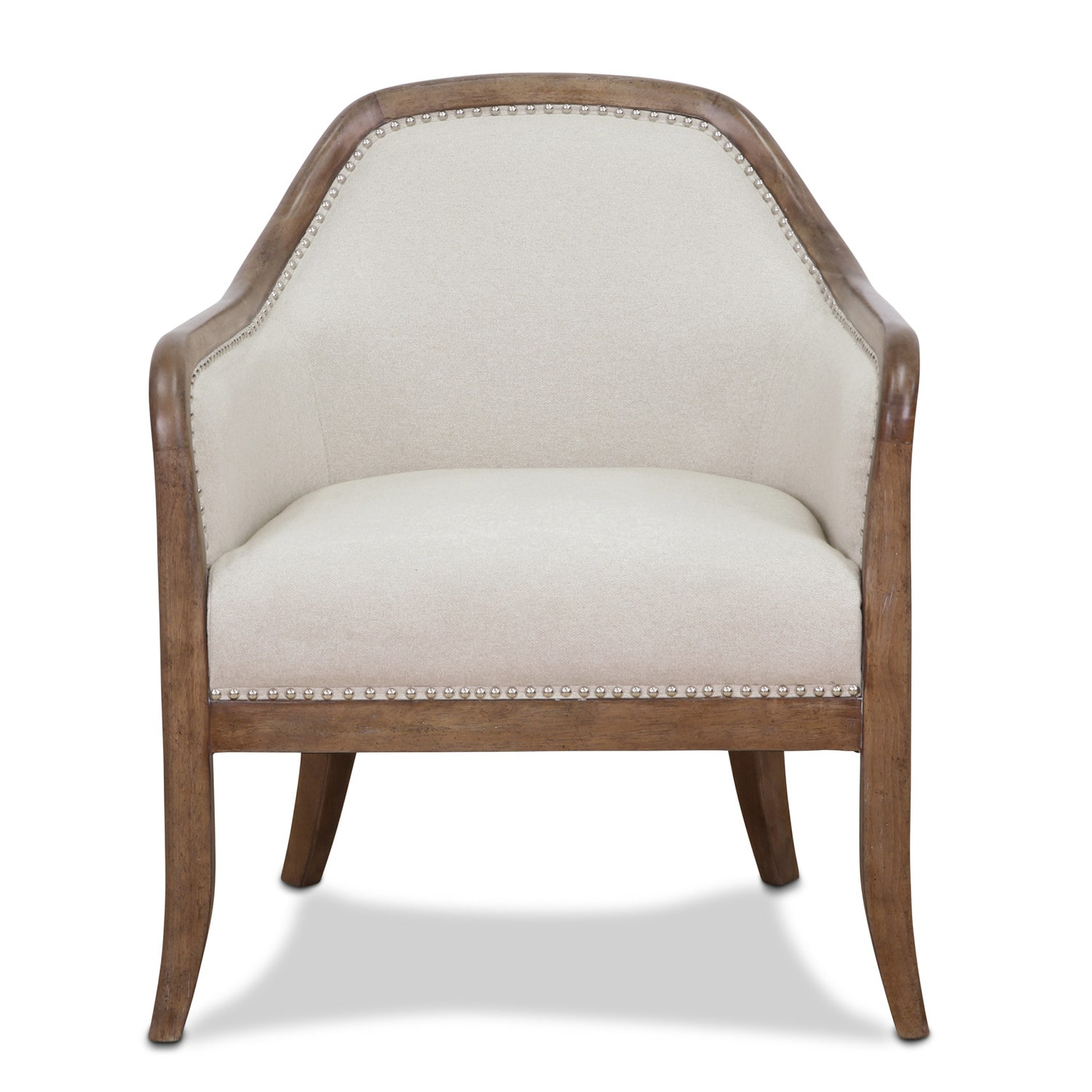 Living Room Furniture - Lily Accent Chair - Beige