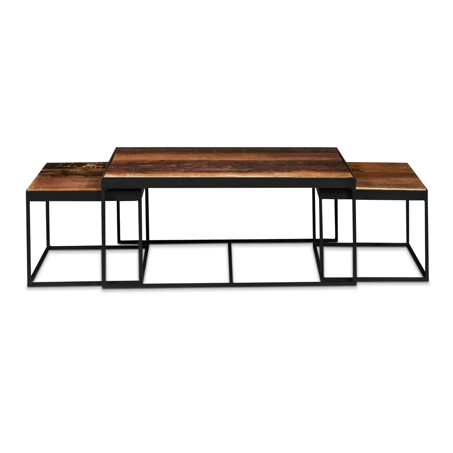 Accent and Occasional Furniture - Marshfield Nesting Tables - Reclaimed Wood