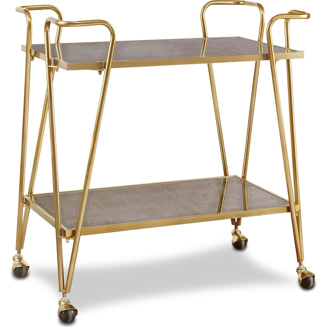 Accent and Occasional Furniture - Madison Bar Cart - Gold