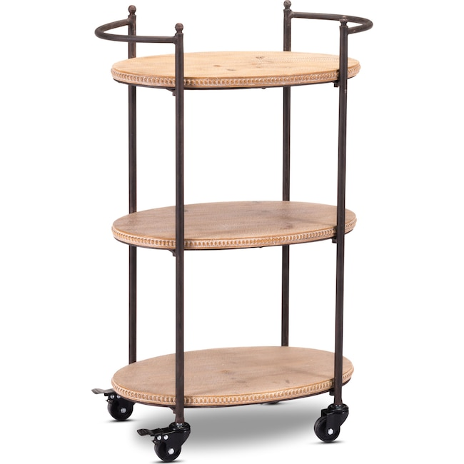 Accent and Occasional Furniture - Addison Bar Cart - Natural