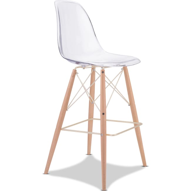 Accent and Occasional Furniture - Alma Barstool - Clear