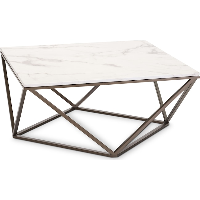 Accent and Occasional Furniture - Emma Coffee Table - Stone
