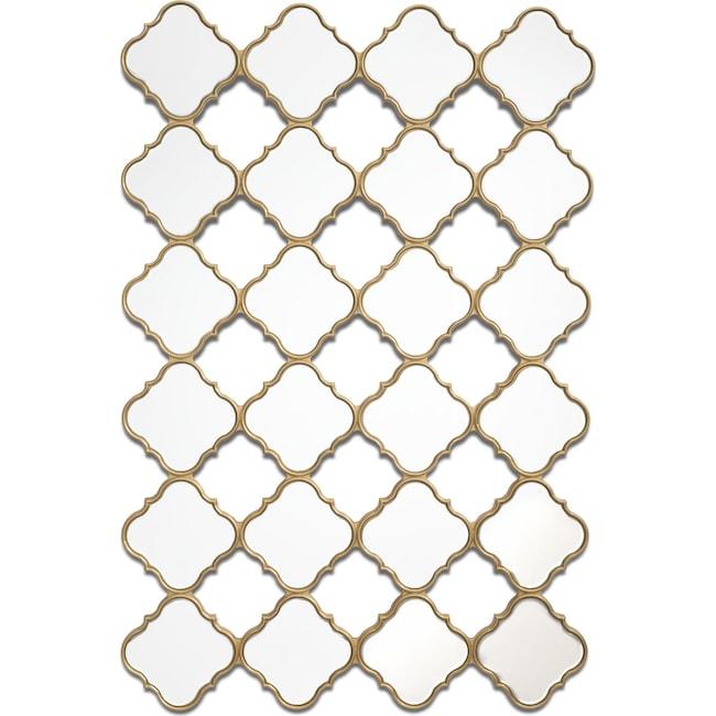Home Accessories - Stars Mirror - Gold