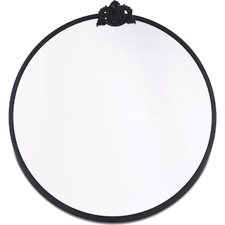 Empire Round Mirror - Black