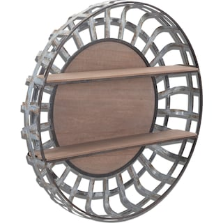 Round Hanging Wall Shelf - Metal