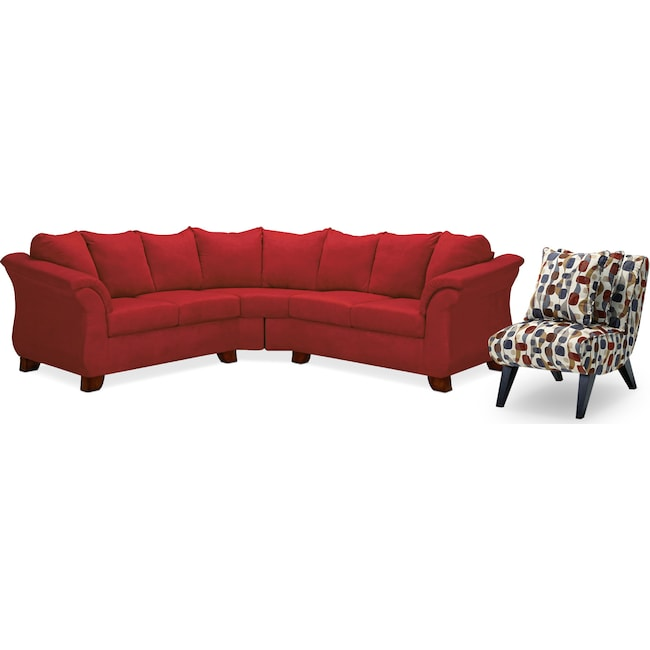 Amazing Chair Sectional Couch With Accent Chair Pabps2019 Chair Design Images Pabps2019Com