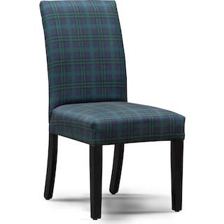 Adler Upholstered Side Chair - Plaid