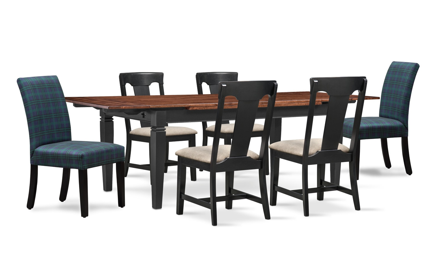 Adler Dining Table, 4 Side Chairs, and 2 Upholstered Side ...