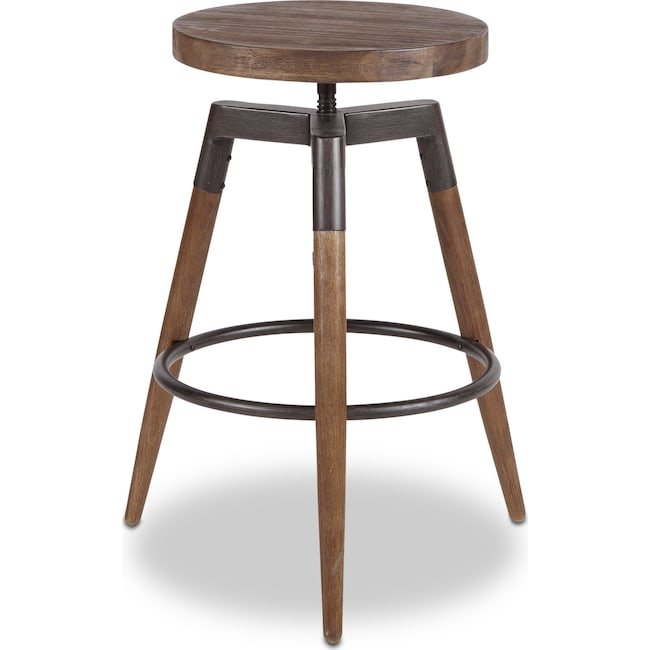 Dining Room Furniture - Ashland Counter-Height Stool - Dark Brown