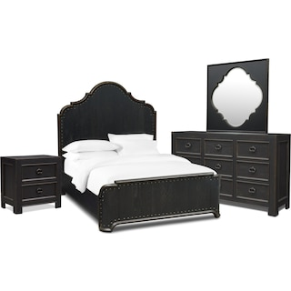 Lennon 6-Piece Queen Bedroom Set - Kettle Black