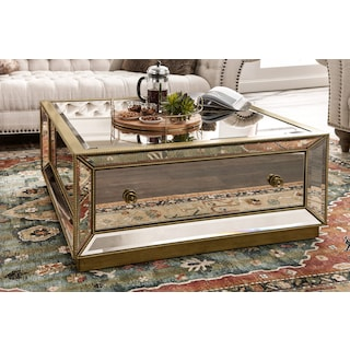 Reflection Coffee Table - Antiqued Mirror