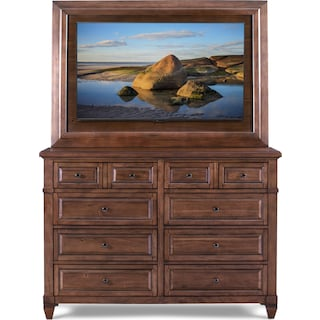 Dresser and TV Mount - Chestnut