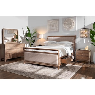 Hazel Upholstered Storage Bed